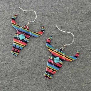 Jewelry - Western Steer Casting Fish Hook Earrings